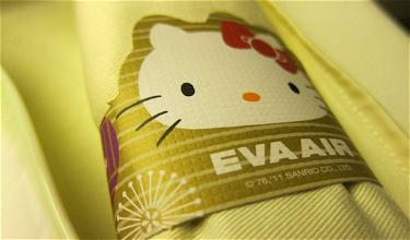 Review: EVA Air Hello Kitty Royal Laurel Class Taipei to Los Angeles