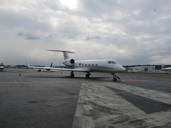 Gulfstream IV flying me to San Diego