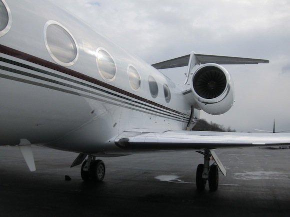 Side of Gulfstream IV