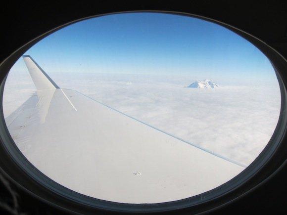 Views of Mt. Rainier through the clouds