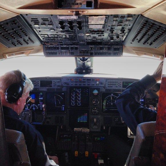 Flight deck and pilots