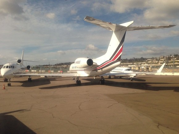 San Diego Airport private jet area
