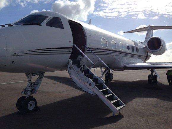 Gulfstream IV on arrival in San Diego
