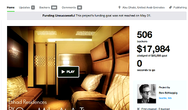 Reflecting On Etihad Residence Class Kickstarter Campaign