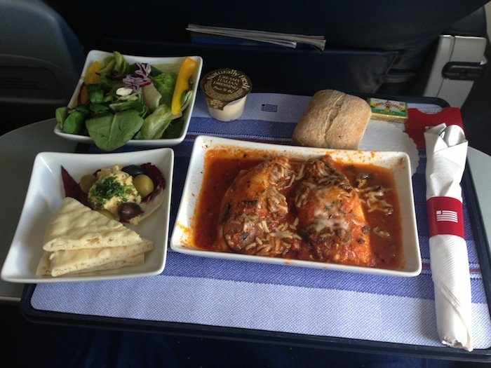 US-Airways-First-Class-Meal