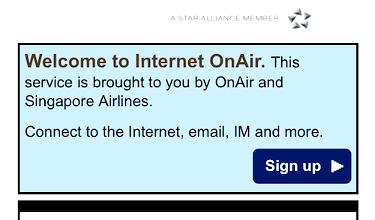 Singapore Airlines Inflight Wifi