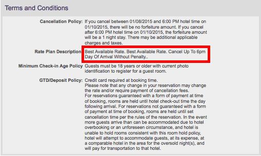 Starwood-Cancellation-Policy