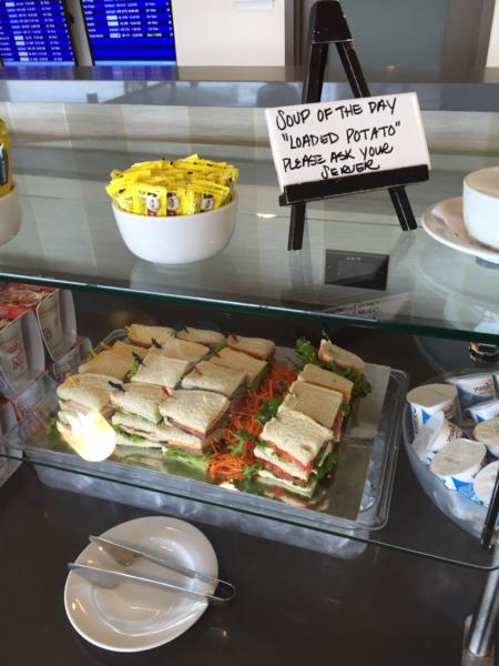 Club at SJC lunch spread (post 10am)
