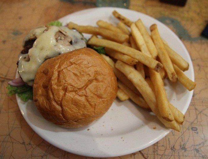 My burger. It had cheese.