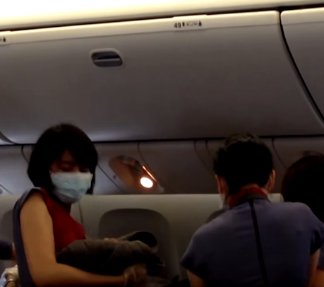 Insane Video Of Woman Giving Birth On A Flight