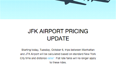 Uber JFK Airport Flat Rate Rides Eliminated