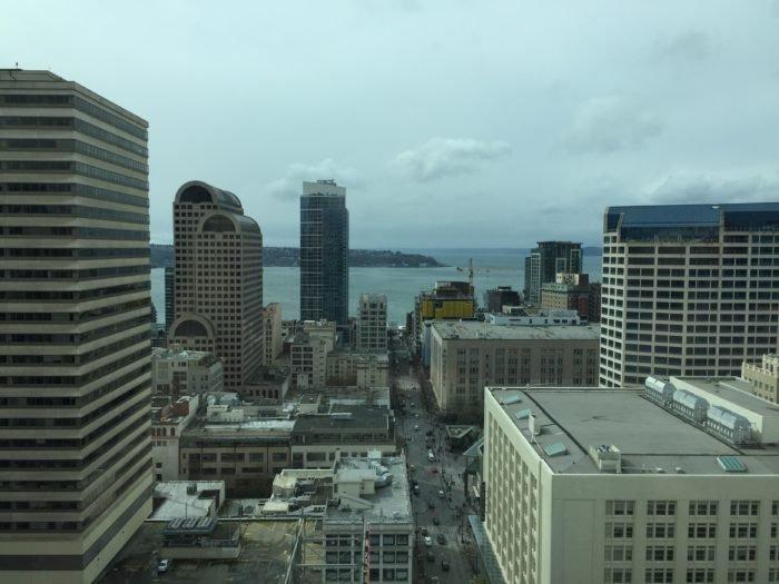 Grand Hyatt Seattle View King room overlooking Elliott Bay