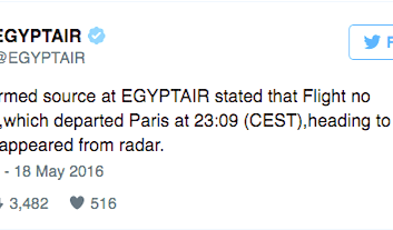 Oh No: EgyptAir Flight Disappears From Radar
