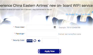 China Eastern's Convoluted Onboard Wifi Registration Process