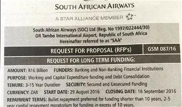 Airline Takes Out Newspaper Ad Asking For $1.1 Billion Loan (As One Does)