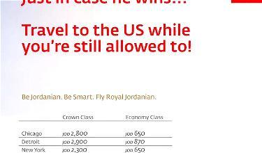 Royal Jordanian Gets Political With Latest Fare Sale