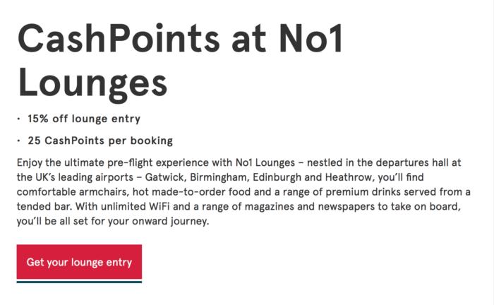 No1 Lounge cashpoints
