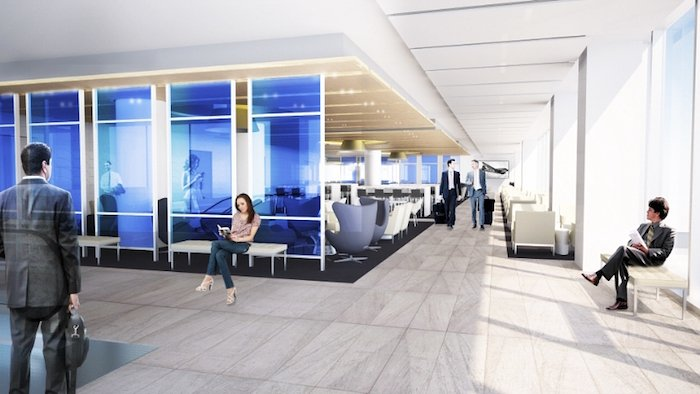 LA's Hottest New Club: Chic, Contemporary United Club Unveiled at LAX (PRNewsFoto/United Airlines)