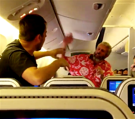 Video: Fist Fight Breaks Out On ANA Flight To LAX