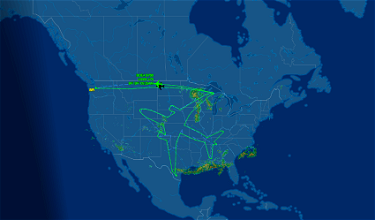 """Amazing: Boeing """"Drew"""" A 787 In The Sky Overnight"""