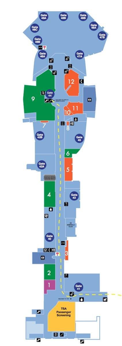 LAX Terminal 4 Map