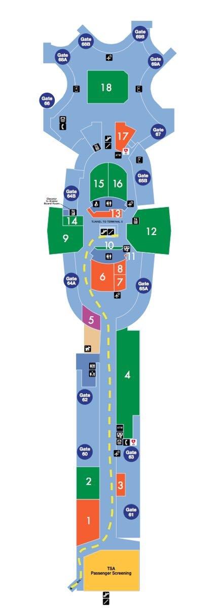 LAX Terminal 6 Map