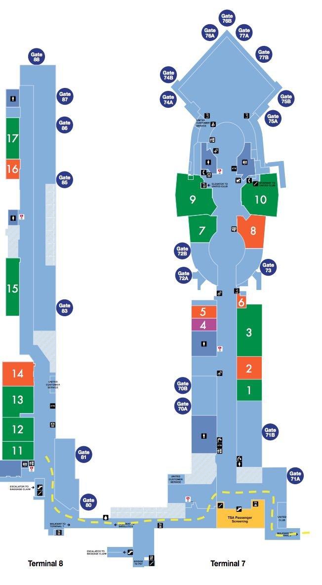LAX Terminal 7 & 8 Map