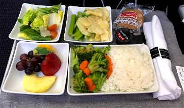 Not All American Airlines Asian Vegetarian Meals Are Created Equal…