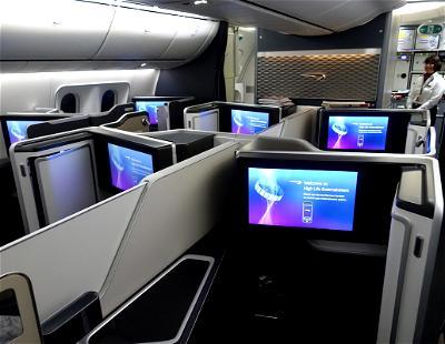 British Airways 787 First Class