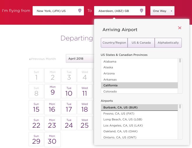 Virgin Atlantic Search Trick For Delta