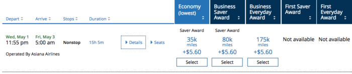 United MileagePlus Chicago To Seoul