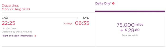Virgin Atlantic Flying Club Delta Australia