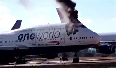 Sad: Retired British Airways 747 Catches Fire
