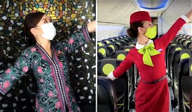 AMAZING: Alaska Airlines Safety Dance Gets A Oneworld Twist