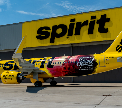 """Spirit Airlines' """"Lucky"""" New Special Livery"""
