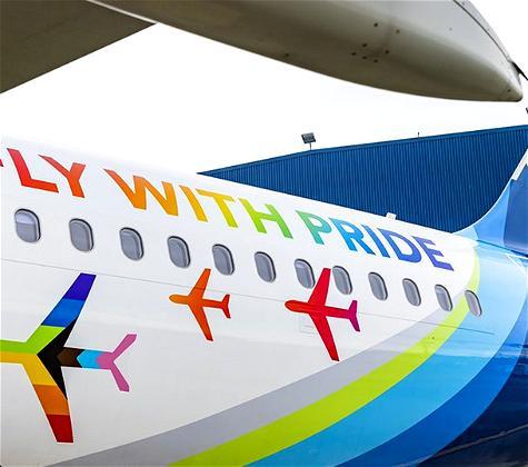 Alaska Airlines Unveils Pride Plane!