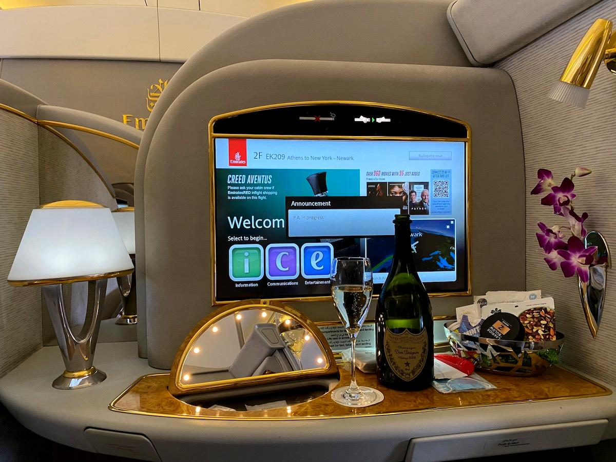 Review: Emirates 777 First Class Athens To Newark
