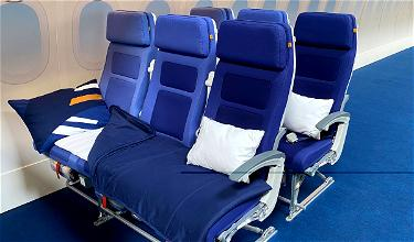 """Lufthansa """"Sleeper's Row"""" Offers Beds In Economy"""