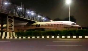 Oops: Former Air India A320 Gets Stuck Under Bridge